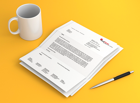 Briefpapier Gestalten : Wie mache ich ein briefpapier mit word brief vorlage