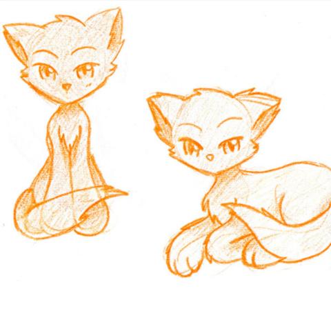 kann mir jemand eine anime manga katze tier zum abpausen empfehlen bilder katzen zeichnen. Black Bedroom Furniture Sets. Home Design Ideas