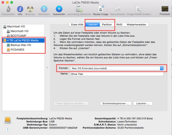Festplattendienstprogramm - (Mac, Festplatte, externe Festplatte)