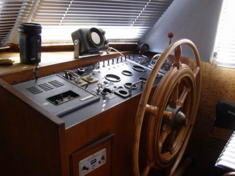 Steuerrad unseres Bootes - (Meer, Boot, Schiff)
