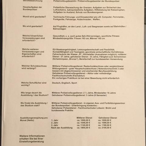 infozettel sport polizei einstellungstest - Polizei Bewerbung Niedersachsen