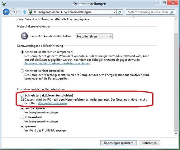 Windows8 Fast Boot deaktivieren - (PC, Bios)