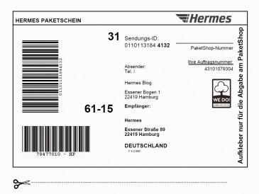 Hermes Paketaufkleber - (Bestellung, Sendung)