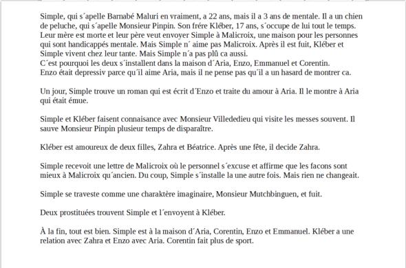 Hi Ich Muss In Französisch Eine Zusammenfassung Des Buchs Simple