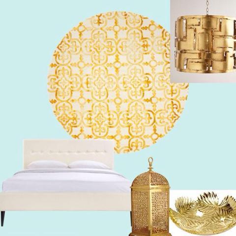 wie kann ich mein zimmer mit t rkis und gold als wandfarbe gestalten farbe wand gestaltung. Black Bedroom Furniture Sets. Home Design Ideas