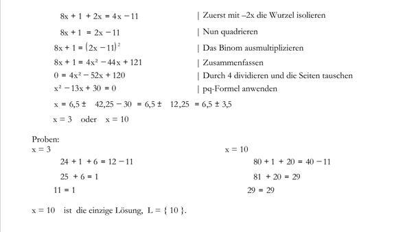 Beispiel - (Mathe, Wurzel)