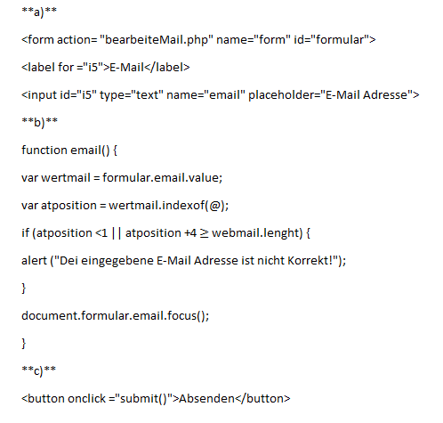 - (programmieren, HTML, JavaScript)