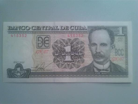 1 Peso Vorderseite - (Geld, Bank, Ausland)