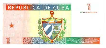 1 Peso (CUC) Rückseite - (Geld, Bank, Ausland)