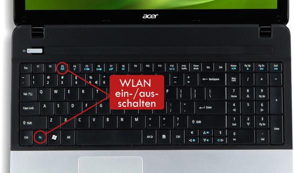 so funktioniert das auf den meisten Notebooks - (PC, Internet, Windows)