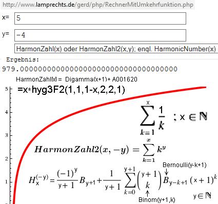 HarmonicNumber Spezialfall y=-4 - (Schule, Mathe, Mathematik)
