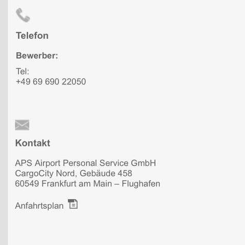 Hier die Kontaktdaten  - (Flughafen, Frankfurt, Fraport)