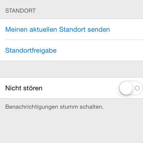 Einfach die Person bei den Nachrichten auswählen und auf Details klicken. - (iPhone, iOS, Mondsymbol)