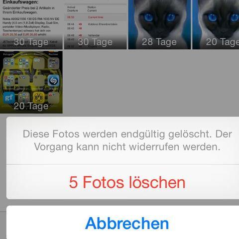 Iphone synchronisierte videos löschen