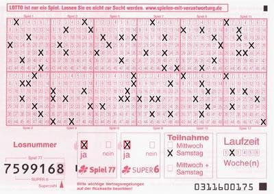 Wie FГјllt Man Einen Lottoschein Aus