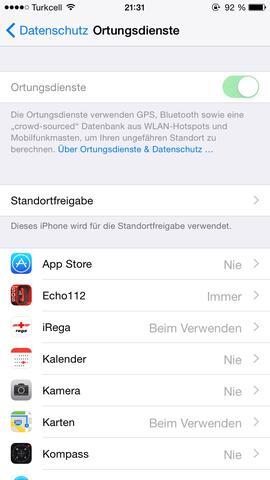 - (iPhone, Datenschutz, Ortung)