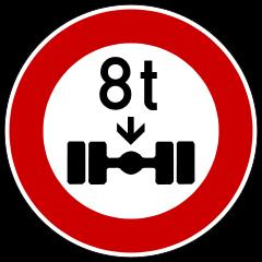Zeichen 263 - (LKW, parken, Verkehrsberuhigte Zone)