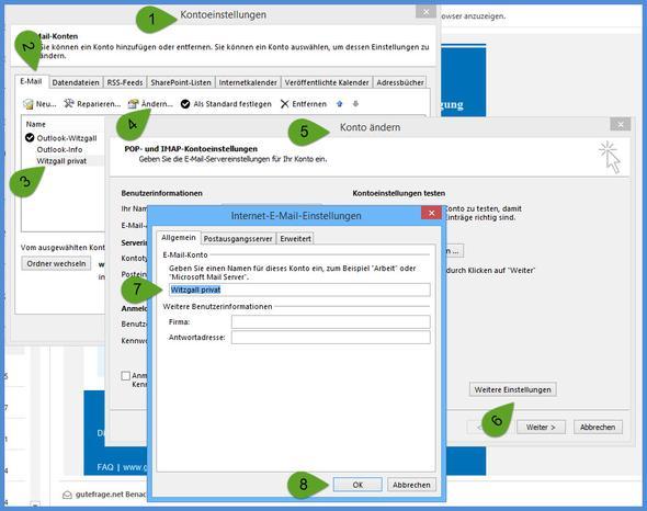 Outlookeinrichten-E-Mail-Konto-Namen ändern - (E-Mail, Outlook)