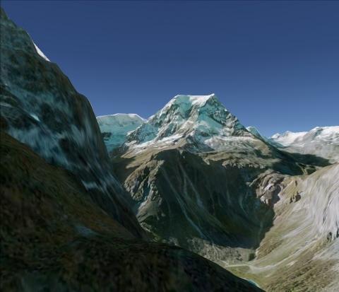 Der Tödi - (Maler, Berge, Alpen)