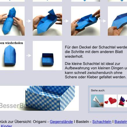 wie geht diese origami schachtel basteln einfach. Black Bedroom Furniture Sets. Home Design Ideas