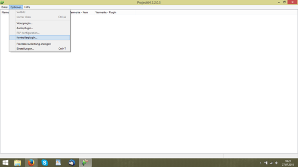 Schritt 2 - (Konfiguration, Project64, Joystick-pad)