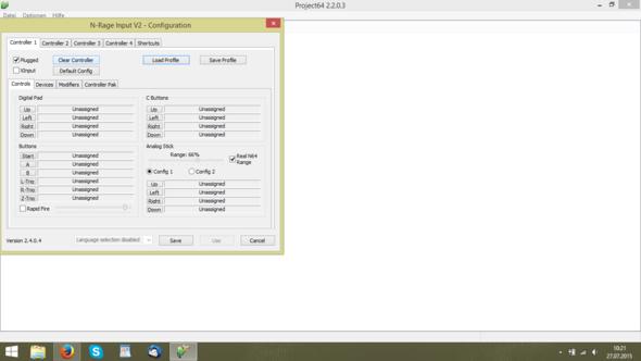 Schritt 3 - (Konfiguration, Project64, Joystick-pad)