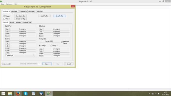Schritt 5 - (Konfiguration, Project64, Joystick-pad)