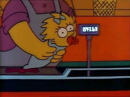 Simpsons Maggie Kasse - (Fernsehen, Simpsons, Supermarkt)
