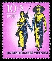 Anti-Vietnamkriegs Marke der DDR - (Geschichte, Revolution)