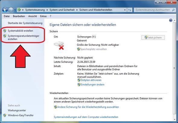 Systemabbild erstellen - (Windows, Festplatte, System)