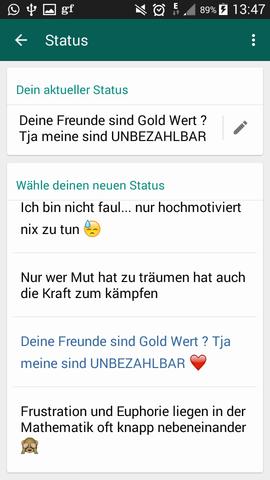 Schöner Status Whatsapp