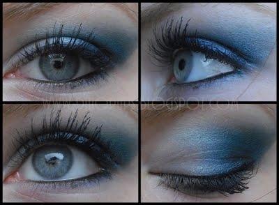 Hier sind es starke blautöne, du kannst deinen Lidschatten danach richten, auch wenns abgeschwächt in der Farbe - (Augen, Schönheit, Schminke)