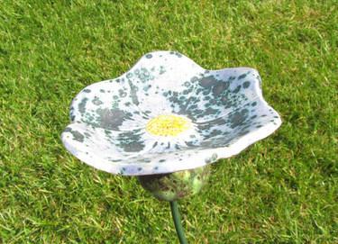 Blumenstecker aus Fimo oder Salzteig machen = 1 Beispiel - (Schule, Kinder, Prüfung)