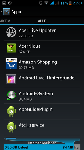 Screen 2 - (Handy, Play Store)