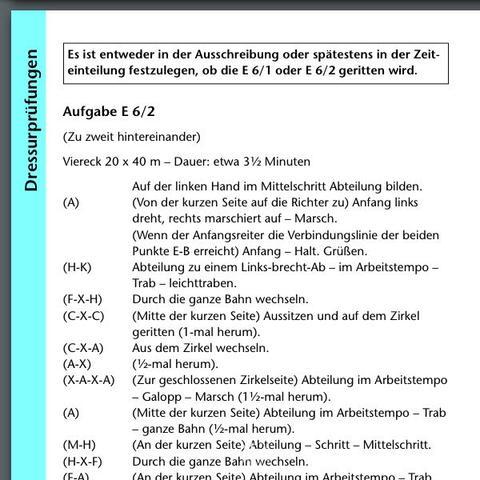 E6/2 Teil 1 - (Pferde, Turnier, Dressur)