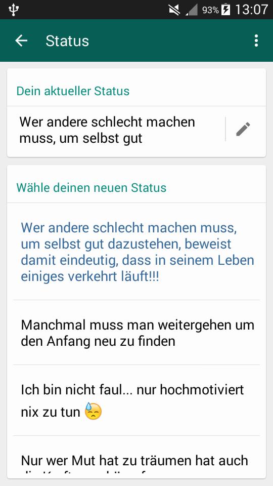 Gute Sprüche Für Whatsapp Status Hatt Jemand Einen Guten Whatsapp Status.  Gute Sprüche Für Whatsapp Status ...
