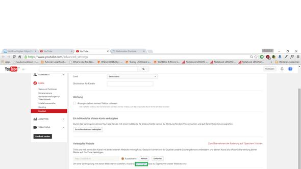 Deshalb auf das bestätigen klicken - (Youtube, Website, strato.de)