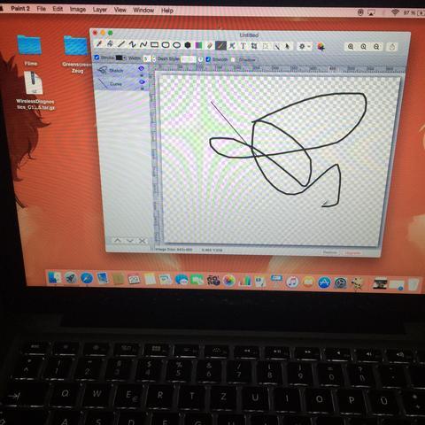 Eigentlich fast genauso wie das Paint bei Windows  - (Mac, Macbook)