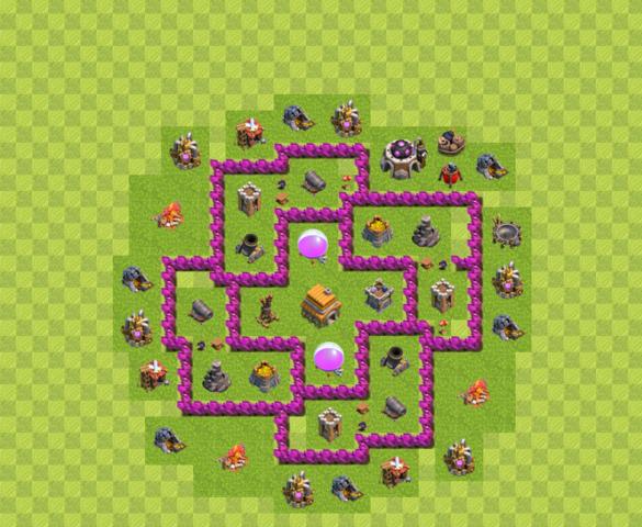 Rth Level 6 Def/poki - (Spiele, Meinung, clash of clans)