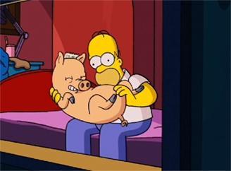 Homer und Spiderschwein - (Sexualitaet, Rätsel)