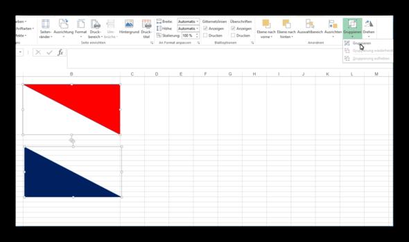 Kann man in Excel 2010 eine Zelle zweifarbig \