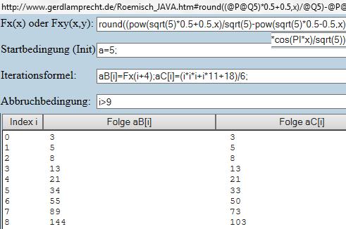 2 explizite Algorithmen per Iterationsrechner - (Zahlenfolgen, Zahlenreihe)