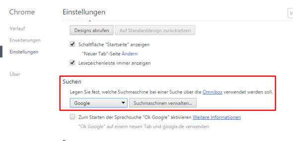 Die Einstellung - (Google, neu, Chrome)