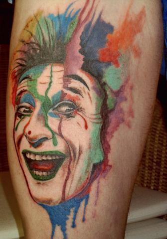 Clown in Aquarell - (Geld, Tattoo)