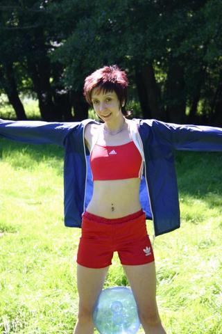 Sportbikini und Shorts - (schwimmen, baden, badeanzug)