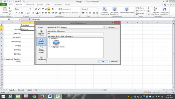 - (Excel, einkaufen, Plan)
