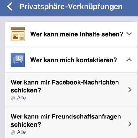 So sieht es am Handy aus  - (PC, Facebook, Nachrichten)