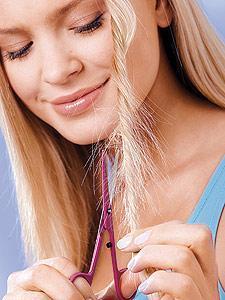 - (Haare, Spliss, lange Haare)