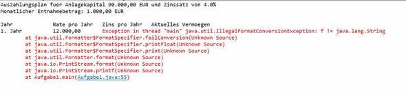 Java Ausgabe Rechtsbundig Machen Programmieren Programmierung