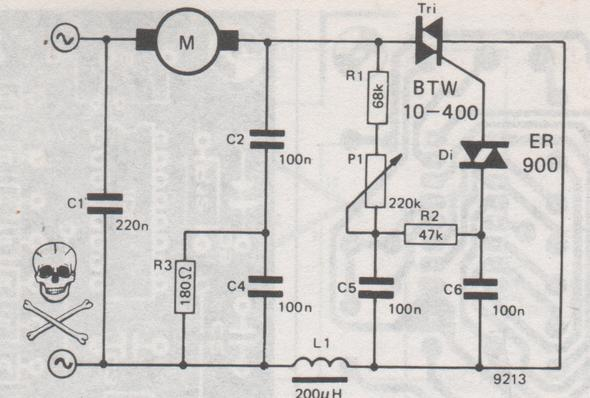 Möchte bei einer 230V Bohrmaschine von außen die Drehzahl regulieren ...